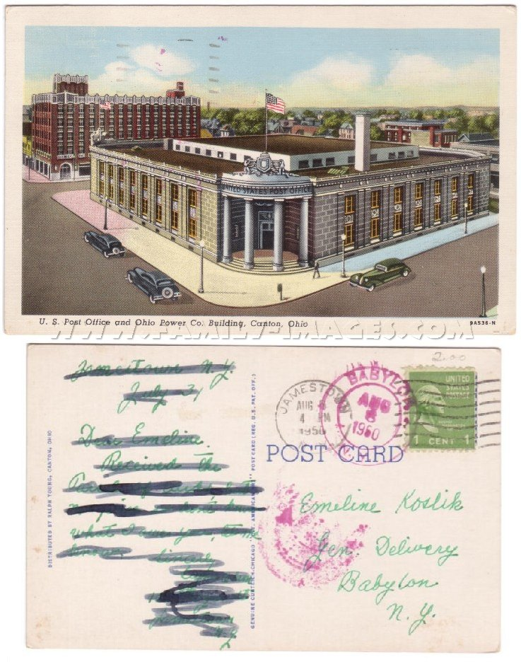 ... OH Canton 1950 U S Post Office Ohio Power Co Building ...